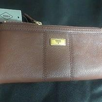 Fossil Ella Clutch Brown Leather Wallet New With Tags Photo