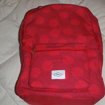 Fossil Ella Red Woman's Backpack Book Bag Laptop Nwt 98 Photo
