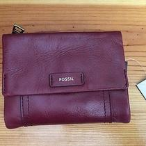 Fossil Ellis Multifunction All Leather Wallet -( Wine ) Nwts Photo