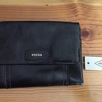 Fossil Ellis Multifunction Black Leather Wallet-Nwts  Photo