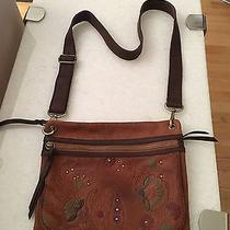 Fossil Embossed Leather Sasha Crossbody Cognac Leather  Photo