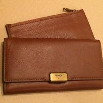 Fossil Emerson Clutch Leather Brown Sl6659200 New Tags Photo