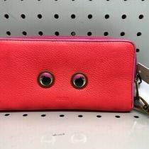 Fossil Emma Large Zip Wristlet Wallet Neon Pink Clutch Purse Photo