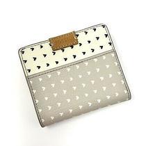 Fossil Emma Rfid Bifold Gray & White Heart Purse Accessory Bifold Mini Wallet Photo