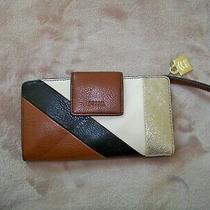 Fossil Emma Tab Clutch Leather Wallet Rfid Protection New With Tags Photo