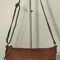 Fossil Erin Zb5910 Brown Pebbled Leather Cross Body Tote Satchel Purse Bag Boho Photo