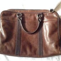 Fossil Estate Brown Leather Messenger/computer Bag 248.00 Photo