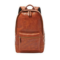 Fossil Estate Casual Leather Backpack Cognac Mbg9242222 Photo