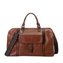 Fossil Estate Framed Duffle Bag (Cognac) Mbg9094222 Photo