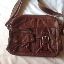 Fossil Estate Penny Pebbled Leather Messenger Laptop School Bag Photo