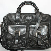 Fossil Estate Textured Leather Briefcase/messenger/computer Bag Photo