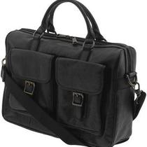 Fossil Estate Top Zip Work Briefcase--Black--Brand New With Tag Photo