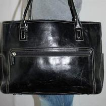 Fossil Executive Large Black Leather Shoulder Hobo Tote Satchel Slouch Purse Bag Photo