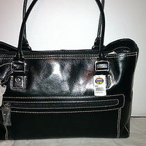 Fossil Executive Leather Tote - Black Photo