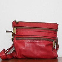 Fossil Explorer Crossbody Red Leather Photo