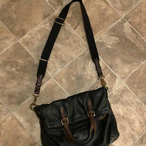 Fossil Explorer Foldover Black Leather Crossbody Messenger With Wallet Photo