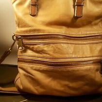 Fossil Explorer Foldover Tan Leather Crossbody Messenger Shoulder Bag/wallet Photo