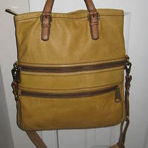 Fossil Explorer Honey Foldover Tote Shoulder Crossbody Handbag         Photo