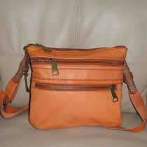 Fossil Explorer  Orange Leather  Crossbody Bag Photo
