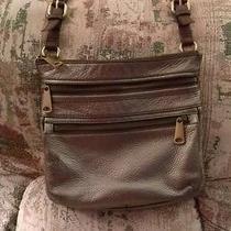 Fossil Explorer Pewter Crossbody Bag Handbag Purse Photo