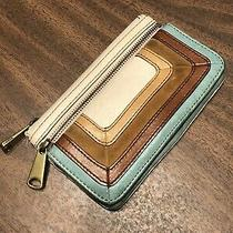Fossil Explorer Teal Color Flap Clutch Wallet Photo