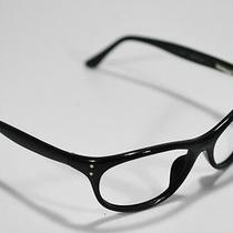 Fossil Eyeware Ronald Black Plastic Flex Hinge Rx Eyeglass Sunglasses Frame Photo