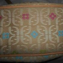 Fossil Fabric Beige With Pink & Blue Floral Photo