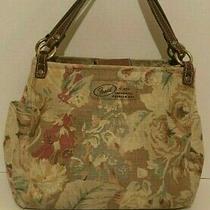 Fossil Fabric Satchel Hand Bag Purse Photo
