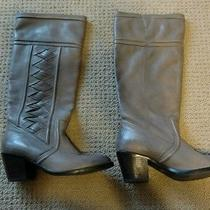 Fossil Felicia Mid Heel Boot Boots (Grey Leather) Women's Boots Photo