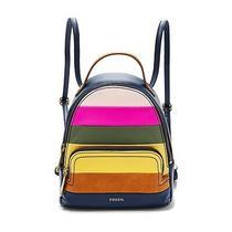 Fossil Felicity Mini Backpack Navy Blue Brown Shb2449997 Shoulder Bag Photo