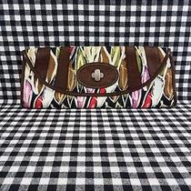 Fossil Fifty Four Colorful Abstract Clutch Handbag  Photo