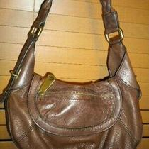 Fossil Fifty Four Espresso Brown Leather Purse Satchel Hobo Shoulder Bag Photo