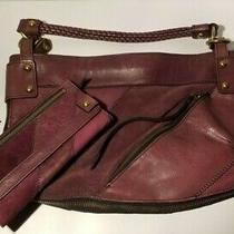 Fossil Fifty Four Leather Suede Purse Shoulder Bag Purple Patchwork  Wallet Photo