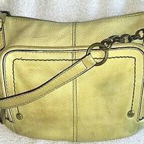 Fossil Fifty-Four Yellow Leather Hobo Shoulder Handbag Organizer Purse Zb1235c Photo