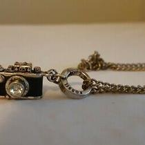 Fossil Film Camera Pendant Jewel Necklace Chain Clasp Lock 18