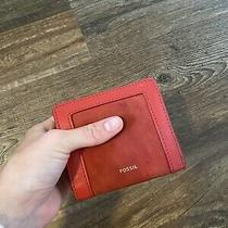 Fossil Fiona Multifunction Women's Leather Clutch - Red Photo