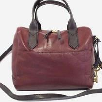 Fossil Fiona Satchel Cabernet Leather Crossbody Bag / Purse / Handbag Zb7268 Photo
