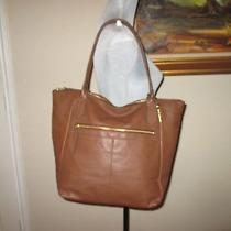 Fossil-Fiona Tote-Brown Leather Shoulder Bag-Fits 15