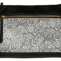 Fossil Fiona White Cheetah Leather Zip Purse Crossbody Nwt  Photo