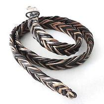 Fossil Fishtail Braided Leather Belt Photo