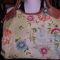 Fossil Flora Fabric and Leather Handbag  Large Photo