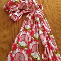 Fossil Floral Print Sequin Embellished Scarf. Cotton Blend. Photo