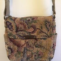 Fossil Floral Tapestry Carpet Bag / Messenger Bag / Crossbody Purse Photo
