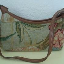 Fossil Floral Tapestry Cloth Handbag W/ Leather Trim Photo