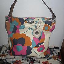 Fossil Flowered Tote Bag Shoulder Bag Purse  Photo