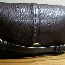 Fossil Foldover Convertible Leather Tote Handbag-Brown-New 157.99 Photo