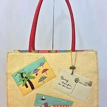 Fossil Forever - Straw Like Spring/summer Beach Travel Tote Euc Photo