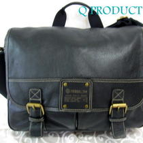 Fossil Fossil Leather Messenger Bag Cross-Body Bag Black Big Hand-Bag Nwt     Photo