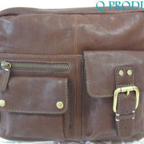 Fossil Fossil Leather Messenger Bag Cross-Body Bag Brown Color Hand-Bag Nwt     Photo