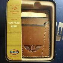 Fossil Front Pocket Wallet New in Tin 1b Photo